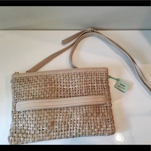 Tous authentic leather beige clutch new with tags